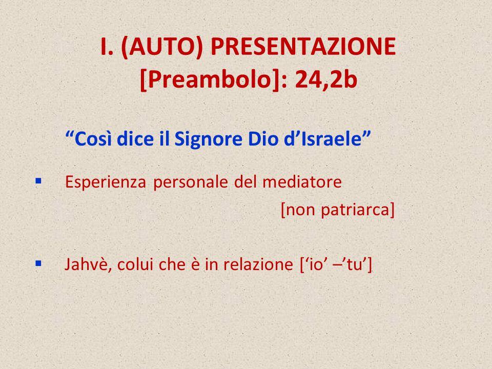 I. (AUTO) PRESENTAZIONE [Preambolo]: 24,2b